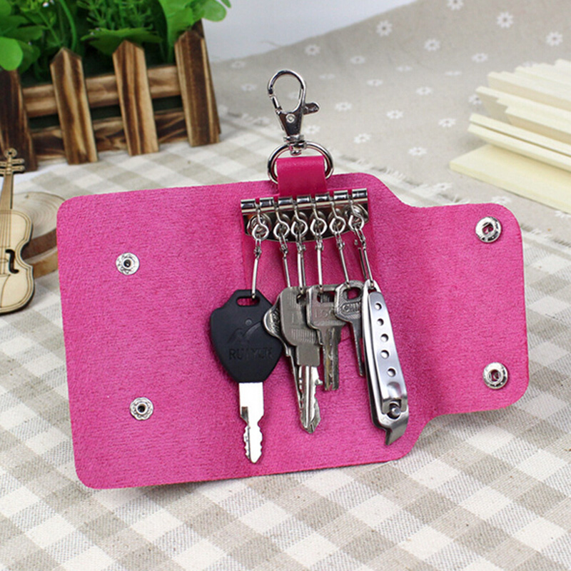 Big Sale! New Arrival Fashion Pu Leather Quality Brand New Fashion Style Solid Key Wallets Bag Car Housekeeper Holders