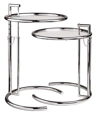 Hauteur Réglable Eileen Gray Table Du0027appoint En Verre Trempé Top Fin Table  Table D