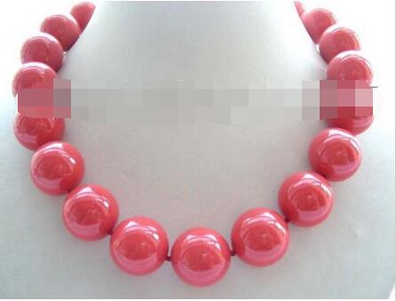 Hot selling free shipping********18 Natural 20mm Pink Round Shell Pearl Necklace!Hot selling free shipping********18 Natural 20mm Pink Round Shell Pearl Necklace!