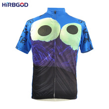 HIRBGOD 2016 summer mens cartoon ride bike eat cookie bicycle maillot cycling clothes sport dh tops wicking jersey china,NM049