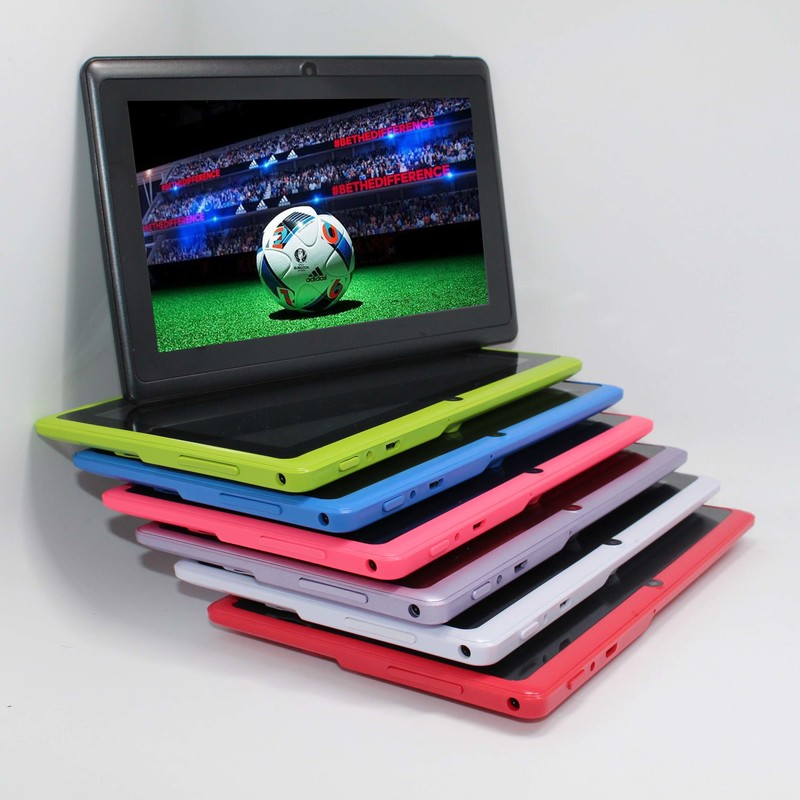 Quad Core 7 inch tablet pc A33 Q88 III 7 Colors Android 4.4 allwinner RAM 512M ROM 4GB best gift pc