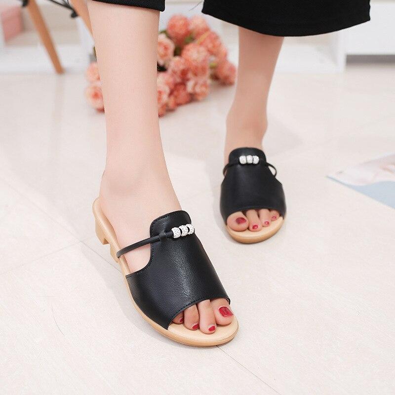 Hung Yau Bohemia Beach Slippers Summer  Platform Flat Sandals Gladiator Roman Shoes For Women Chaussure Femme Open Flip Flops