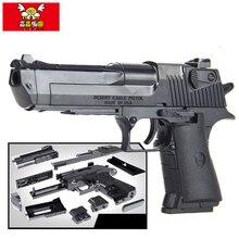 43 Шт. пистолет Desert Eagle Пистолет Модели игрушки строительные блоки комплект сборка детей собраны Модели Строительные Комплекты Игрушка Пушки