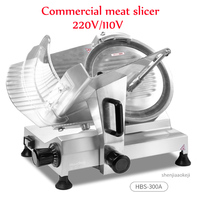HBS 300A Commercial meat slicer 12 inch Semi automatic meat cutter Electric cutting machine for frozen meat/mutton roll/beef ect Food Processors     -