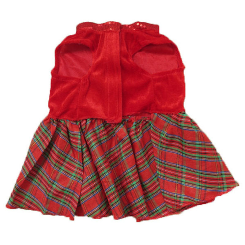Pet Dogs Christmas Party Dress Tutu Dress Red Plaid Xmas Clothing Puppy Cat  Dress Costumes Outfit-in Dog Dresses from Home   Garden on Aliexpress.com  ... 9ea1a4925f23