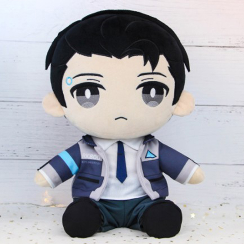 30CM Soft Detroit Become Human Plush Doll Toys Stuffed For Children/Kids Connor Anime Plush Doll Toys Game Cosplay Sit Doll все цены