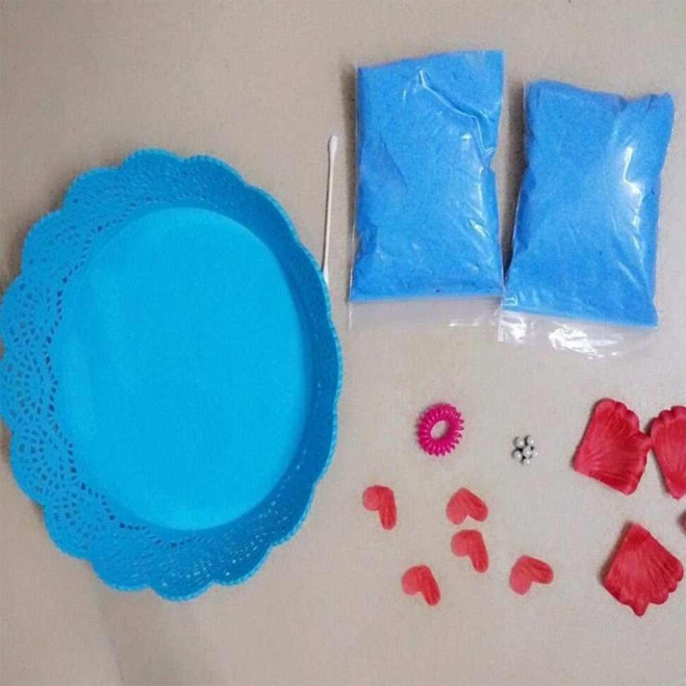 เด็ก Clay มือพิมพ์ & Footprint clay Kit Imprint ชุดเด็กของที่ระลึกหล่อทารกแรกเกิด Footprint Pad ทารก Clay Toy ของขวัญ