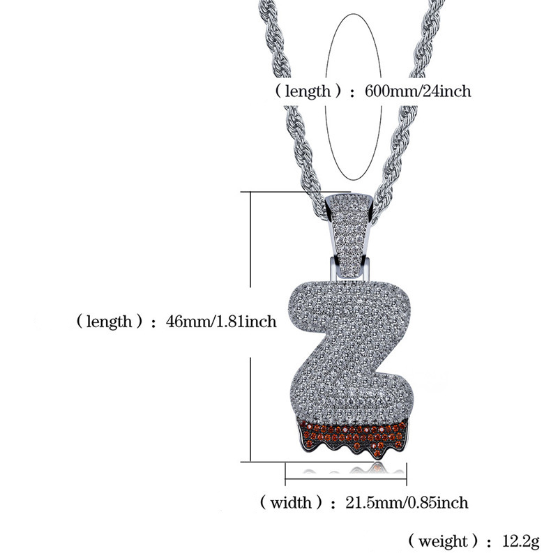 bubble letter necklace84