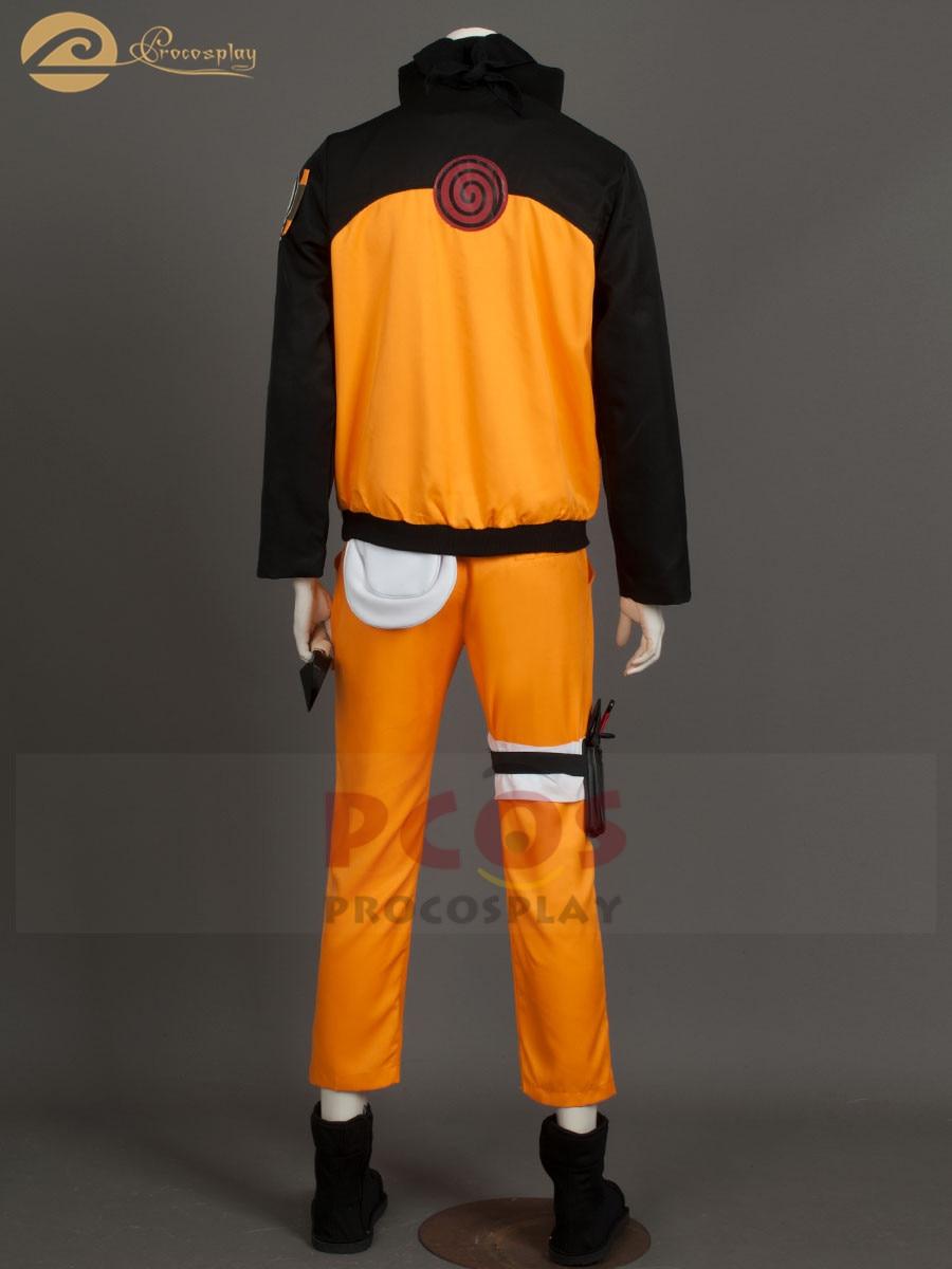 Discount Deluxe Set~ Naruto Shippuden Uzumaki Cosplay Costume mp000059 2