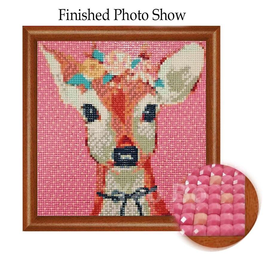 5D DIY Full Drill Square Diamond Painting Animals Cross Stitch Mosaic Kits  #W