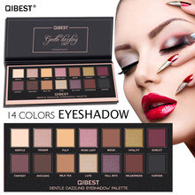 QiBest 14color Eyeshadow Pallete Make Up Long Lasting Shimmer Shining font b Eye b font font