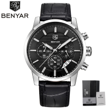 BENYAR Watch Men Waterproof Chronograph Business Dress Mans Watches Date Quartz Wristwatches Male Hour relogio masculino 2017