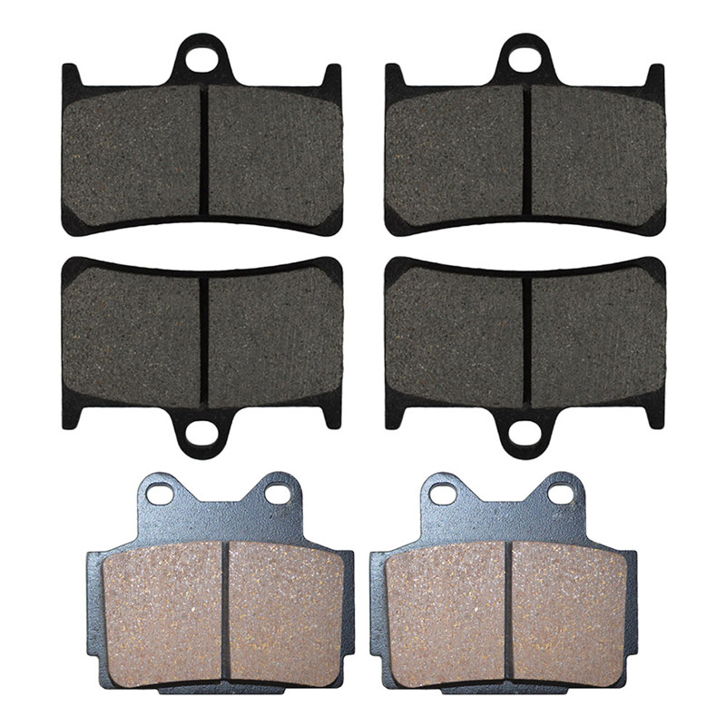 Motorcycle Front and Rear Brake Pads for YAMAHA FZS 600 Fazer 1998-2003 Black Brake Disc Pad motorcycle front and rear brake pads for yamaha fzr 400 a fzr400a 1990 brake disc pad