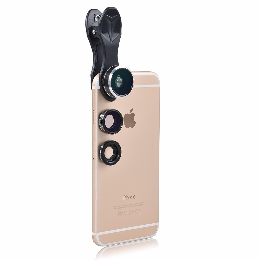 APEXEL 6IN1 phone camera lens 12X Telescope telephoto Zoom+fisheye wide angle macro Lens kit For iPhone7 6S plus Samsung s8 14