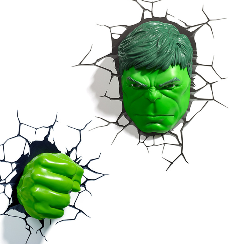 Justice League Incredible Hulk Head And Hand With LED Light Savage Hulk Robert Bruce Banner 3D Wall Lamp Home Decorations S584 savage hulk volume 1