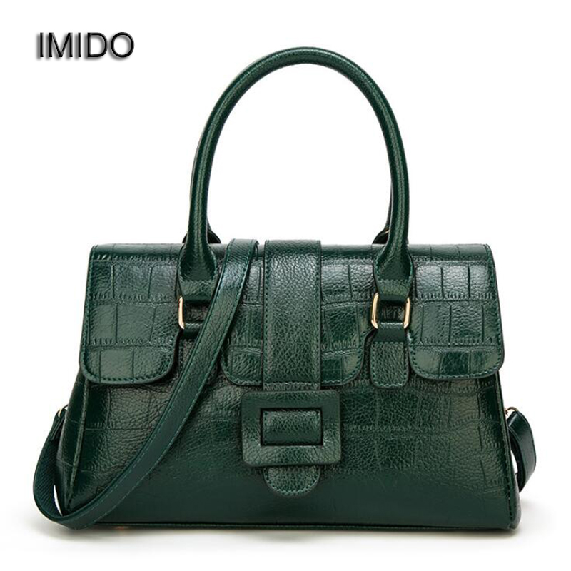 IMIDO 2018 Brand Luxury Designer Women Handbags Female pu Leather Shoulder Crossbody Bag High Quality Tote Bags Green Red HDG074 luxury brand designer handbags high quality shoulder bags women square pink tote bag female elegant soft crossbody messenger bag