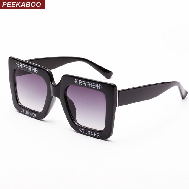 5e35b93c7a Peekaboo big square sunglasses women black casual purple white oversized  sun glasses woman fashion summer 2018 uv400