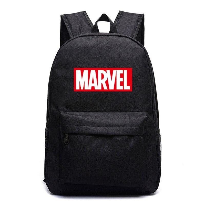 2018 Multicolor Marvel Brief Die Avengers Junge Mädchen Schule Tasche Frauen Bagpack Jugendliche Schulranzen Leinwand Männer Student Rucksäcke