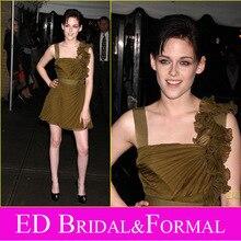 Kristen Stewart Kurze Abendkleid Chiffon Cocktail Party Kleid vestido de festa curto