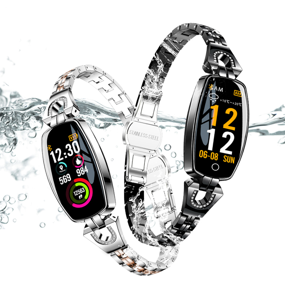 New Arrival Women Smart Watches Fitness Bracelet Sport Waterproof Blood Pressure Watch For IOS Android Wristband Birthday Gift in Smart Wristbands from Consumer Electronics