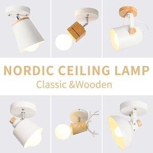 Image 1 - EL LED tavan ışık demir ahşap İskandinav Modern tavan lambası oturma odası yatak odası için dekorasyon fikstür koridor mutfak