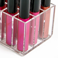Clear Acrylic Makeup Organizer Lip Gloss Lipstick Display Storage Box Cosmetic Holder Holds up 640163