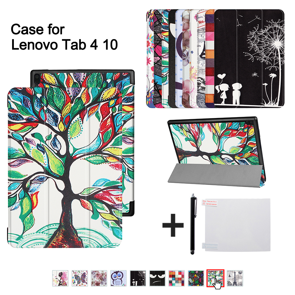Ultra slim cover case For Lenovo TAB 4 10 (2017 release) for lenovo tab410 Tab4 10 TB-X304N F Cases 10.1 smart case cover+gitf ultra slim cover case for lenovo tab 4 10 2017 release for lenovo tab410 tab4 10 tb x304n f cases 10 1 smart case cover gitf