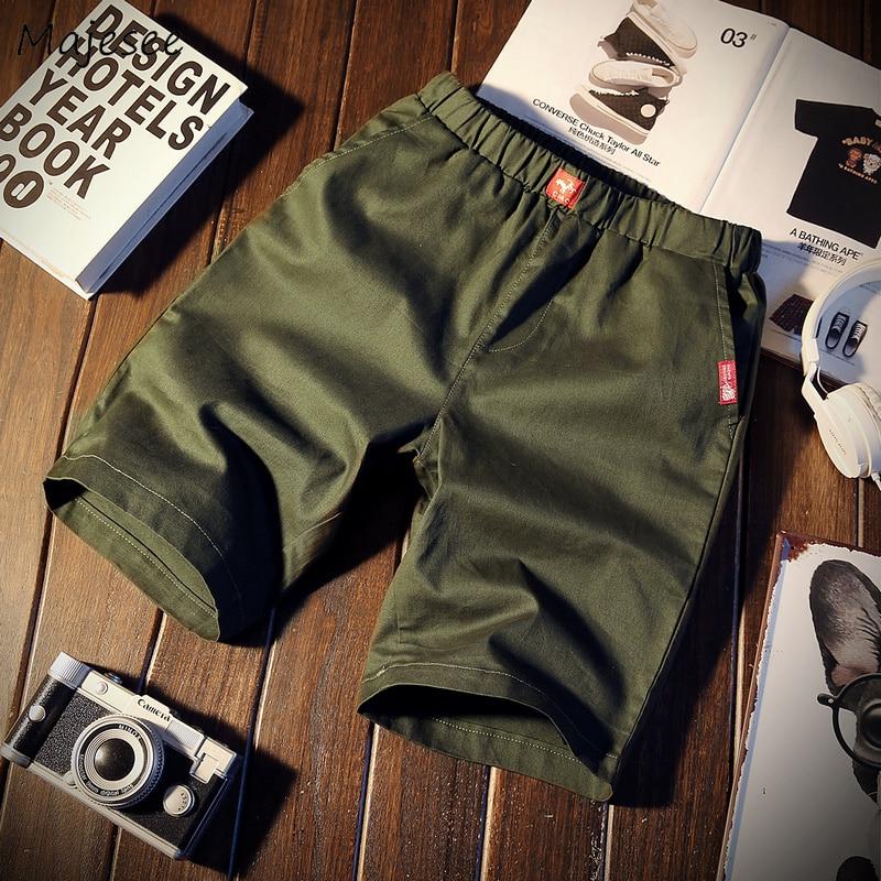 Casual Shorts Men Harajuku Leisure Trendy Elastic Waist Thin Loose Streetwear Summer Mens Simple All-match Korean Style Chic