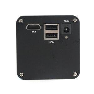 Image 2 - 2020 dönebilen eklemli kelepçe kol standı 200X Zoom objektifi SONY IMX290 otomatik odaklama sanayi HDMI ölçüm Video mikroskop kamera