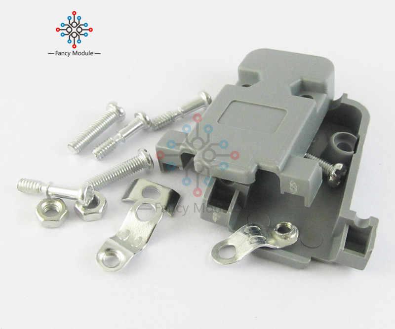 5 個グレー D サブ DB9 9Pin プラスチックフードカバー 9 ピンまたは 15 ピンコネクタ用