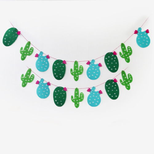 Cactus Birthday Felt Garlands Baby Shower Wedding Tropical Christmas Buntings Nursery Room Decor Baptism Banners In Streamers Confetti From Home