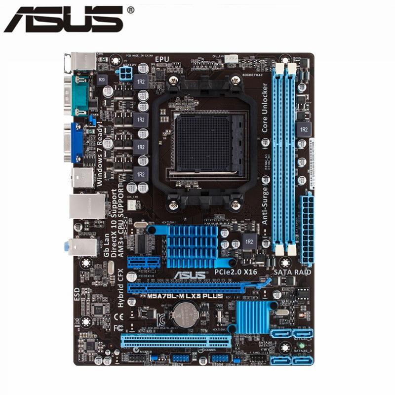 Asus New M5A78L-M LX3 Plus Desktop motherboard 760G Socket AM3+ DDR3 16G SATA2 USB2.0 Micro ATX 24.4x18.8cm asus m5a78l desktop motherboard 760g socket am3 ddr3 16g sata2 usb2 0 atx