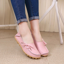 GTIME New Women Real Leather Shoes Moccasins Mother Loafers Soft Leisure Flats Female Driving Casual Footwear#CXL6