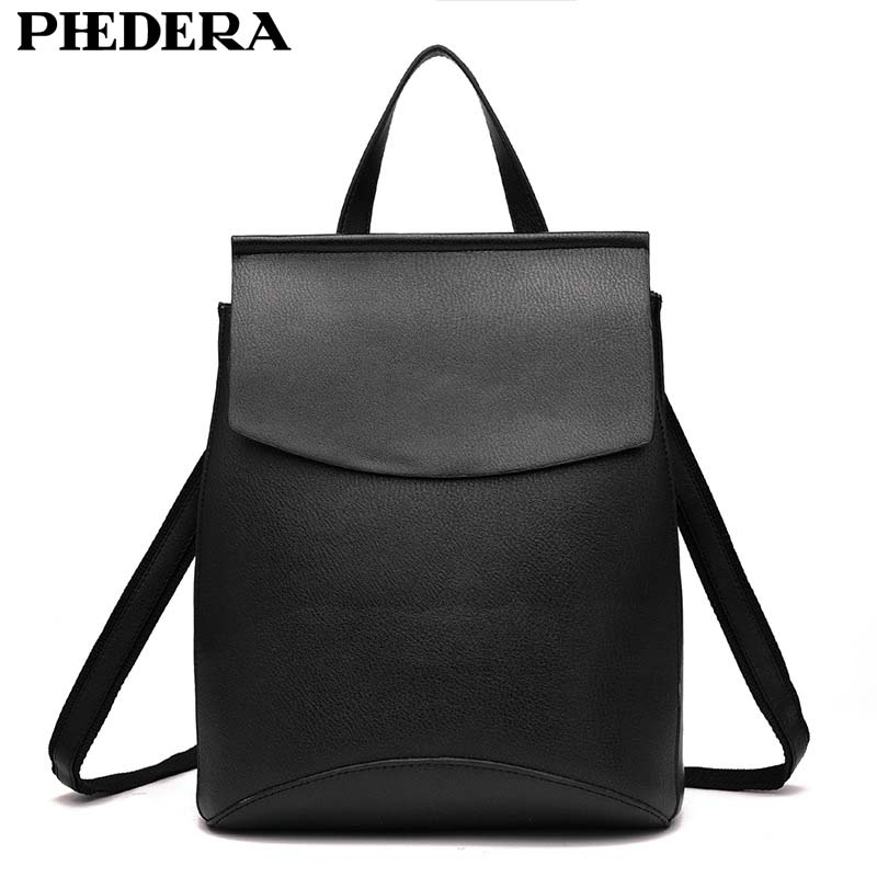 2017 New Fashion Women Backpacks Shoulder Bag High Quality PU Leather Korean Style Female Backpack Teenagers
