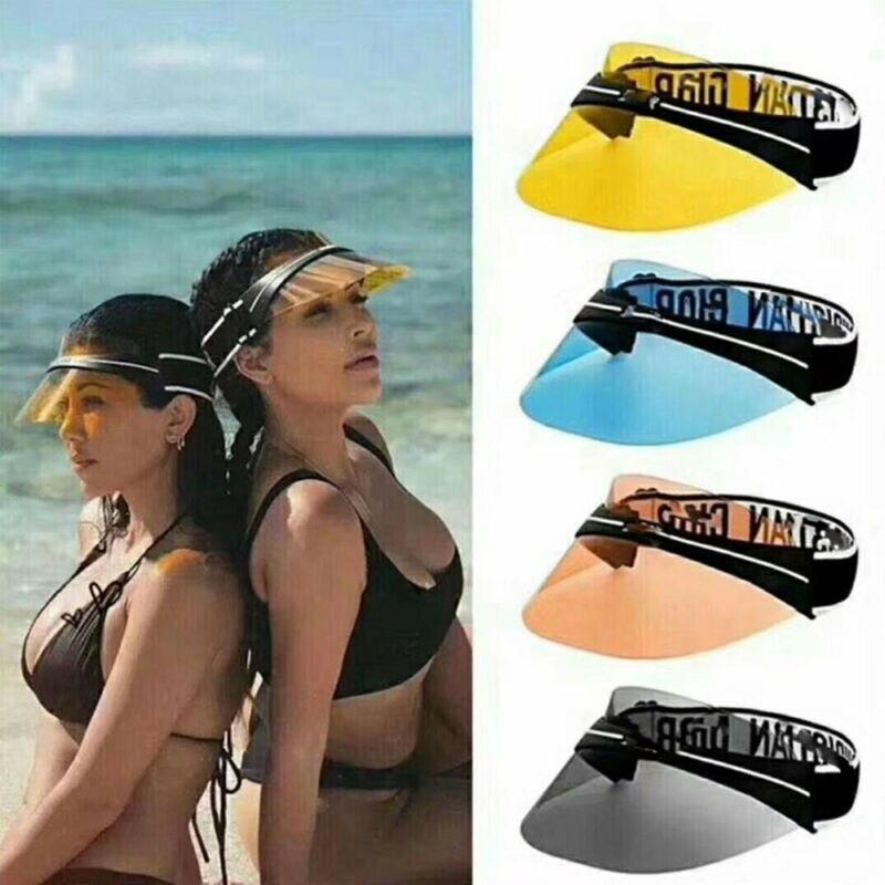 Sun Visor Hat Headband Cap UV Protection Transparent For Golf Hiking Ride Lot Shining Fashion Comfortable
