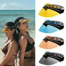 Sun Visor Hat Headband Cap UV Protection Transparent For Golf Hiking Ride Lot Shining fashion Comfortable(China)