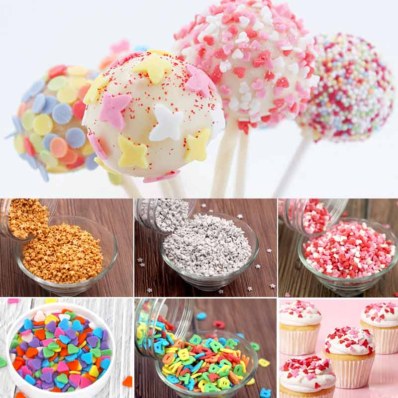 Edible Sugar Sprinkles Candy Ball Heart Star Lollipop Food Coloring Cake Decorating Tools Baking Pastry Tools For Cake Fondant