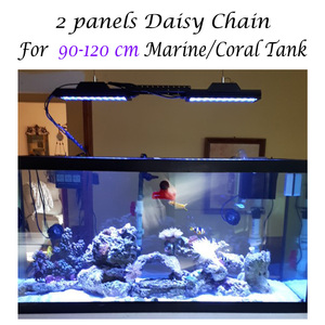 Image 5 - Iluminación LED de acuario para tanque de arrecife, lámpara de acuario UV de espectro completo, programable, LED Coral marino