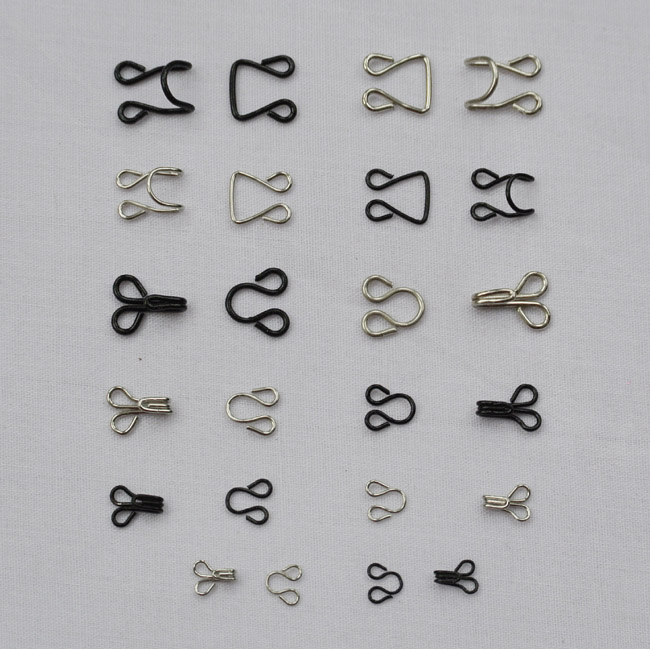 50 pairslot U-shape metal snap buttons collar coat underwear invisible buttons sewing handmade diy accessories 1101