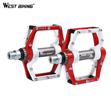 WEST BIKING Bike Pedals 9/16 Aluminum Alloy Anti-slip Cycling Sealed Bearing Ultralight Bisiklet Pedal MTB BMX Bicycle Pedals mzyrh m80 bike pedal aluminum needle bearing platform anti skid bmx mtb bicycle pedals