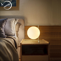 Modern glass iron table lamp art deco Nordic desk lamp LED E27 with 3 styles for bookstore parlor bedroom study restaurant cafe