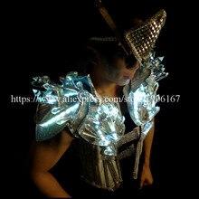 Холодные светодиодные светящиеся шоу на сцене костюмы певец crystal led Мужская Одежда DJ Костюмы с led маска