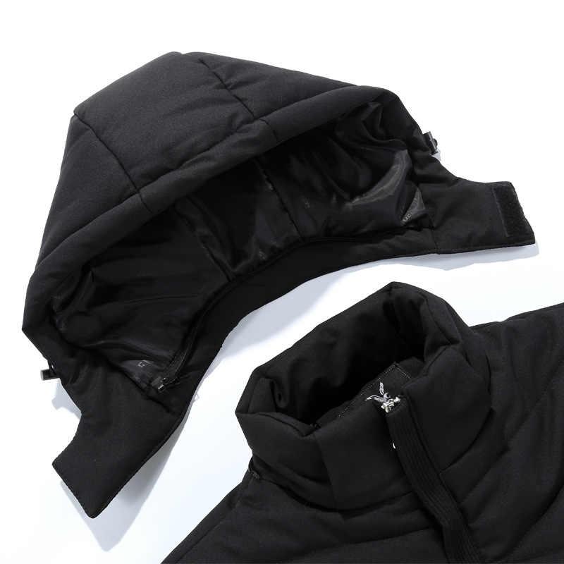 男性新着ジャケットジャケットカジュアル綿厚いメンズ野生のファッションフード付きコート取り外し可能なアプリケーション綿パッド