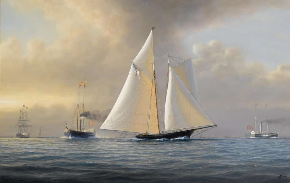 Canvas piantings for room Americas Cup print on canvas Seascapes painting ...