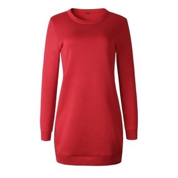 Knitted Winter Dress Women Casual O-Neck Black Red Warm Elegantn Long Sleeve Sexy Knitted Sweater Dress Female Wholesale 6