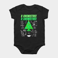 Baby Onesie Baby Bodysuits kid t shirt Funny novelty O Chemistree Ugly Christmas Sweater Tee - Periodic Table cool(China)