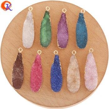 50 piezas de accesorios de joyería Cordial Design de 11x37MM/colgante de resina/forma de gota/pendientes DIY/encantos/hechos a mano/hallazgos de pendientes