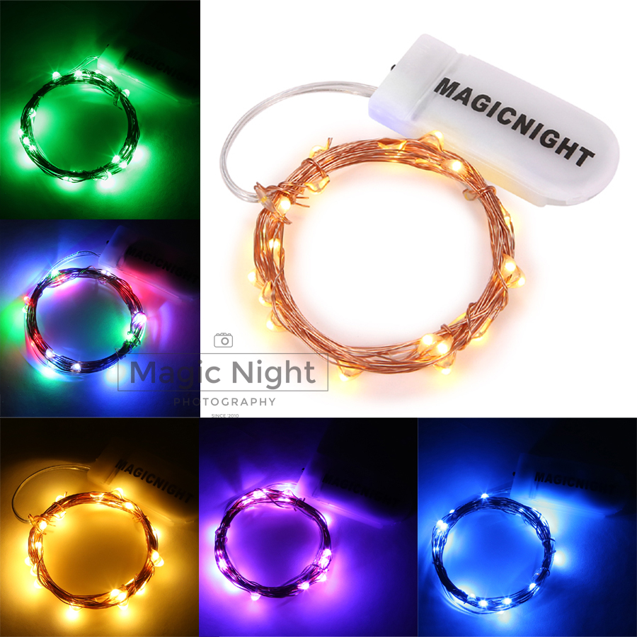 Magicnight Firefly String Starry Light Warm White Color Micro LED Battery Operated on 7 Feet Copper Wire for Bedroom Decor