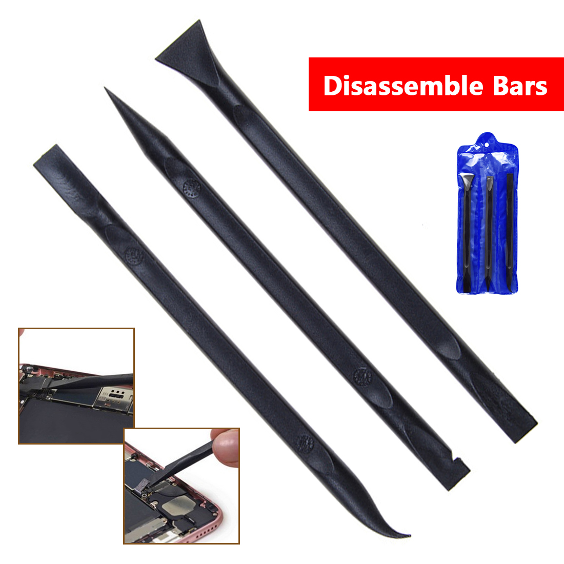 3pcs ESD Safe Heavy Duty Plastic Spudger Set For Mobile Phone Tablet Opening Repair Tool Durable Anti-static Spudger Hand Tools