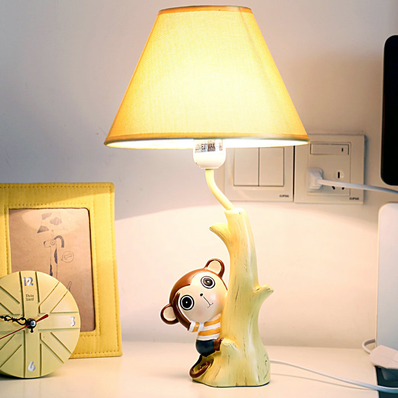 Adorable Monkey Lamp Warm Bedroom Bedside Lamp Dimming Creative Cartoon Children Cute Boy Birthday Gift